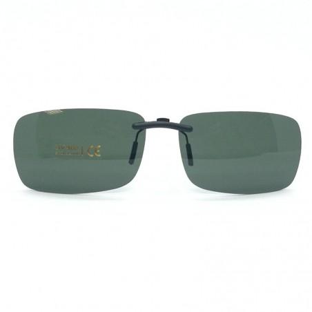 Zelený pevný šoférsky slnečný klip na dioptrické okuliare CL1C
