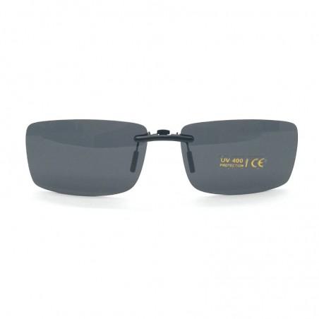 Šedý pevný šoférsky slnečný klip na dioptrické okuliare CL4A