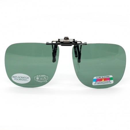 Zelený slnečný vyklápací klip na dioptrické okuliare 108-4