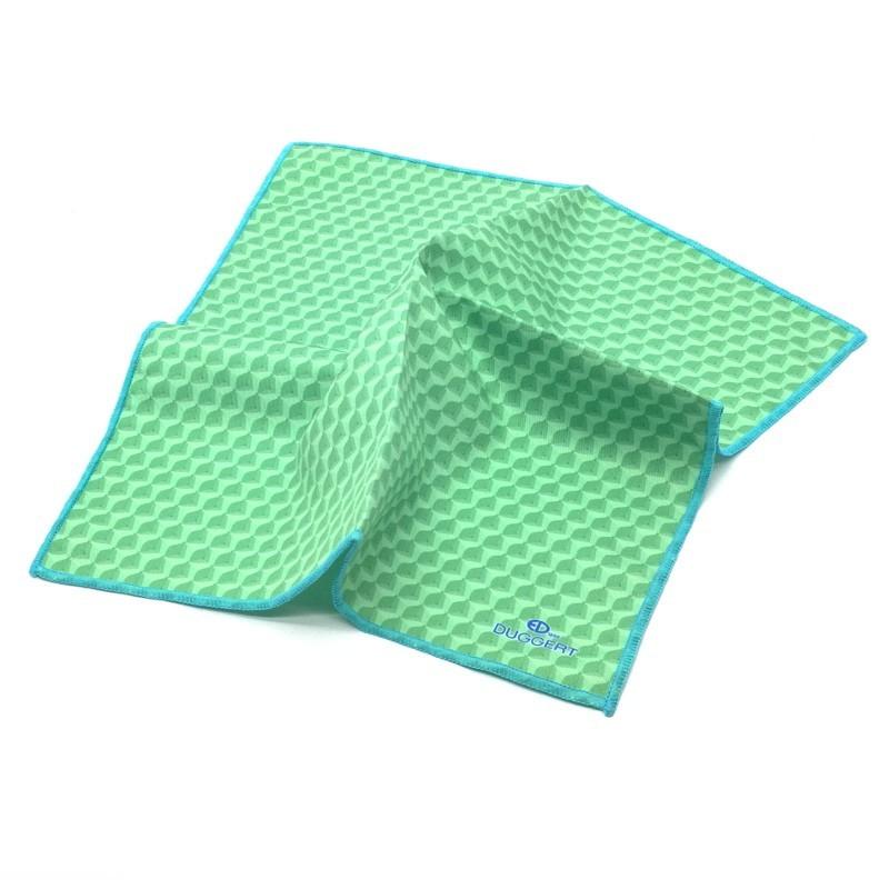 Ultra jemná utierka Duggert 25x25cm 8825-07 - zelený vzor 1