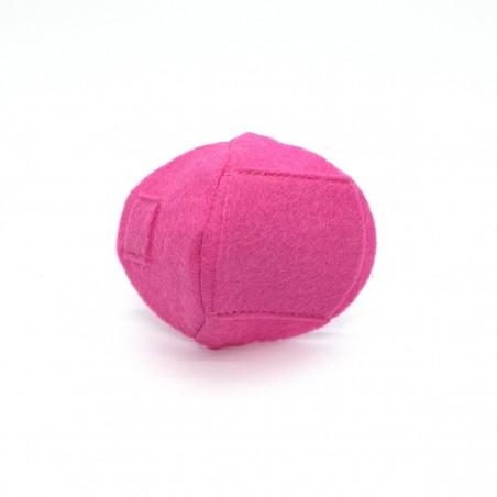 Okluzor textilný nasúvací - tmavo ružový obojstranné