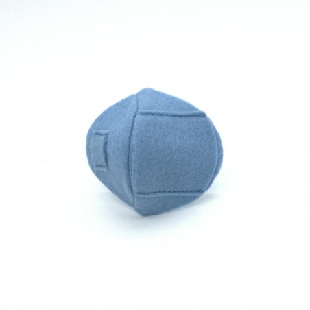 Okluzor textilný nasúvací mini - modrý obojstranné