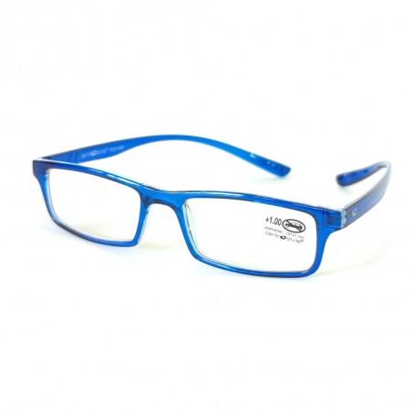 Čítacie okuliare hotové +1.00 až +2.00 dioptrie modré lesklé