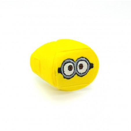 Okluzor textilný nasúvací - žltý Mimoň dve oči