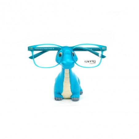 Držiak na okuliare Dino modrý