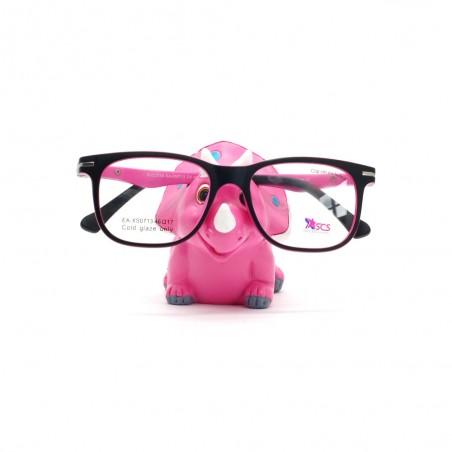 Držiak na okuliare Dino ružový