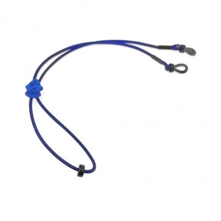Detská elastická šnúrka na okuliare - šašo modrý
