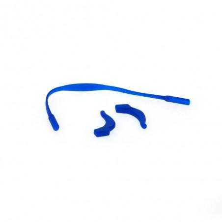 Silikónové zarážky (pár) + gumový pás - modré