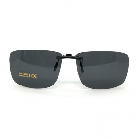 Šedý šoférsky pevný slnečný klip na dioptrické okuliare